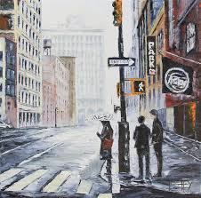 original art for at ugallery com new york state of mind by lisa