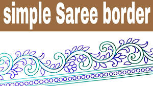 Saree Border Designs Images How To Draw Embroidery Designs Saree Border Design Drawing