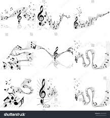 Music Staff Treble Clef Musical Designs Sets Elements Music Staff Stock Vector Royalty Free