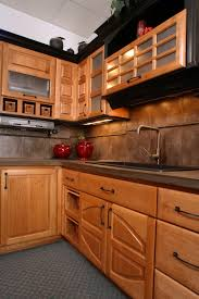 thumb kitchen traditional style western maple light color raised panel accent color black moldings double half