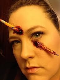 broken pencil liquid latex thick blood sfx makeup idea