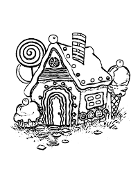 Small Picture Gingerbread House Coloring Pages Wecoloringpage