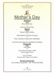 Mother S Day Menu Template Bosworth Battlefield Heritage Centre