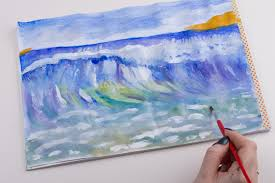 how to paint ocean waves