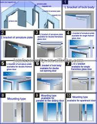 frameless glass doors lock magnetic safety locks electric