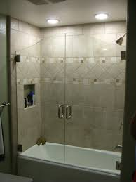 half glass shower door for bathtub doors