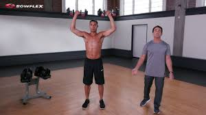 the one set of dumbbells workout bowflex