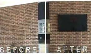 hang tv on brick wall mounting brick fireplace awesome help rh happinessculture co brick fireplace with
