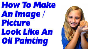 how to make an image or picture look like an oil painting in gimp