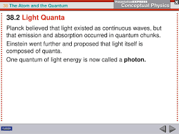 What Is The Energy Of One Quanta Of Light Atomic Structure Is Revealed By Analyzing Light Ppt Download