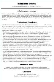 Administrative Assistant Resume Summary Administrative Assistant