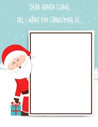 Santa List Template Santa Claus Letter Free Printable For Kids Santa List