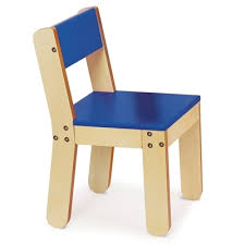 Little Chair for Kids Rooms Playrooms or Classrooms Bright Blue