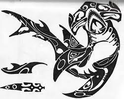 hammerhead shark tattoo drawing. Fine Shark Hawaiian Hammerhead Shark Tattoo Design Inside Drawing T