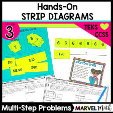 hands on strip diagrams to solve multi step word problems