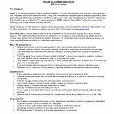 New Sample Resume Job Description Sales Representative Onda