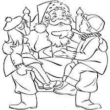 Small Picture Kids And Santa Claus Coloring Page Christmas Coloring pages of