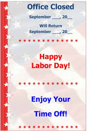labor day closing sign template labor day small business free forms