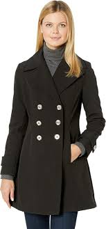 Ivanka Trump Womens Double Breasted Softshell Jacket With