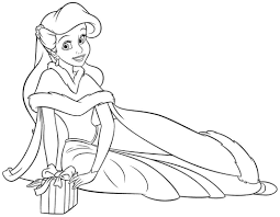 Small Picture Disney Princesses Coloring Pages Ariel Coloringstar Coloring