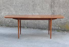 Table De Salle à Manger Vintage En Teck Massif 1960 Design Market   Table A  Manger