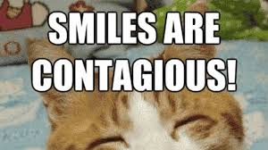 grumpy cat smiling is contagious.  Contagious In Grumpy Cat Smiling Is Contagious