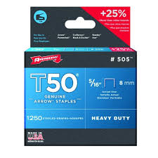 save on arrow fastener 505 genuine t50 5 16 inch staples 1 250 pack