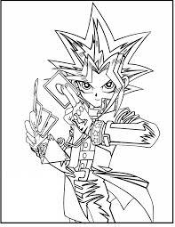 Gold, blue, silver, black, transparent,white. Yu Gi Oh Yami Yugi Coloring Pages For Kids Hco Printable Yu Gi Oh Coloring Pages For Kids Dibujos Dibujos De Anime Dibujo De Goku