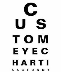 Eye Test Chart Gifts On Zazzle Nz