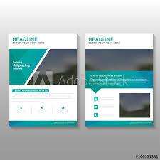 green elegance vector business proposal leaflet brochure flyer template design book cover layout design
