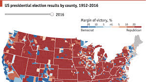 Presidental Election Results A Country Divided By Counties Daily Chart