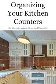 organize kitchen counters