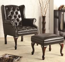 Traditional Accent Chairs Living Room Erik Bronze Frame Leather Sling Strap Arm Accent Chair Beaumont