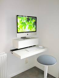 diy floating desk diy home. View In Gallery Small And Stylish DIY Wall Mounted Desk Diy Floating Home