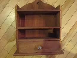 wood wall shelf cabinet shaker look