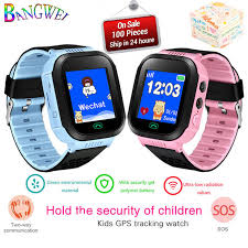 Online Shop <b>BANGWEI</b> Anti Verloren OLED Kind GPS Tracker SOS ...