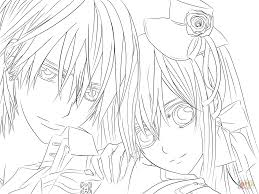Small Picture Yuki Zero from Vampire Knight coloring page Free Printable