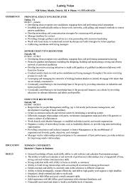 Executive Recruiters Job Description Executive Recruiter Resume Samples Velvet Jobs