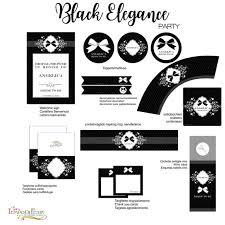 black elegance inspiration printable party