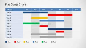 Gantt Chart Year Planner Flat Gantt Chart For Powerpoint Daily Planning Slidemodel