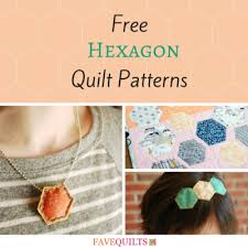 11 Free Hexagon Quilt Patterns | FaveQuilts.com & 11 Free Hexagon Quilt Patterns Adamdwight.com