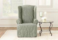 matele damask one piece wing chair slipcover furniture slipcoversfurniture coversslipcovers for chairschair coversoutdoor furnituresure fit