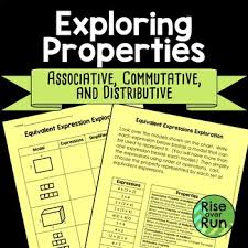 Properties Of Operations Chart Associative Commutative And Distributive Properties