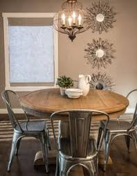 rustic chic rustic dining room calgary by alykhan velji design farmhouse round dining tableround gl kitchen table black basechairs