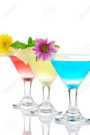 Light Cocktails Cocktails Martini Row With Vodka Light Rum Gin Tequila Blue
