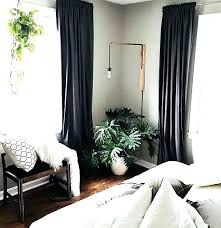 Wall Curtains Bedroom Dark Gray Walls And Grey With Black Accent ...