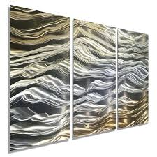 lovely contemporary metal wall art silver amp gold contemporary metal wall art sculpture by metal wall