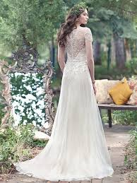 vintage wedding gowns with geometric details by maggie sottero
