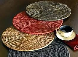 for a round table rattan place mats placemats setting templates