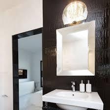 framed bathroom mirrors. Two Mirrors In The Bathroom: A Large Black-framed Floor Mirror And Silver- Framed Wall Bathroom